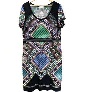Calvin Klein Colorblock Geometic Shift Dress F9